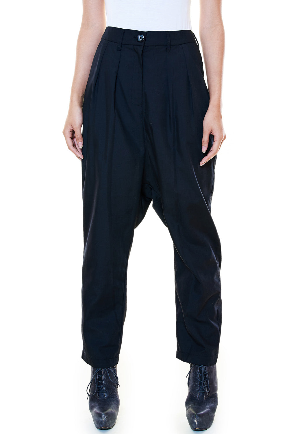 Black Crepe Trousers - casacomostyle