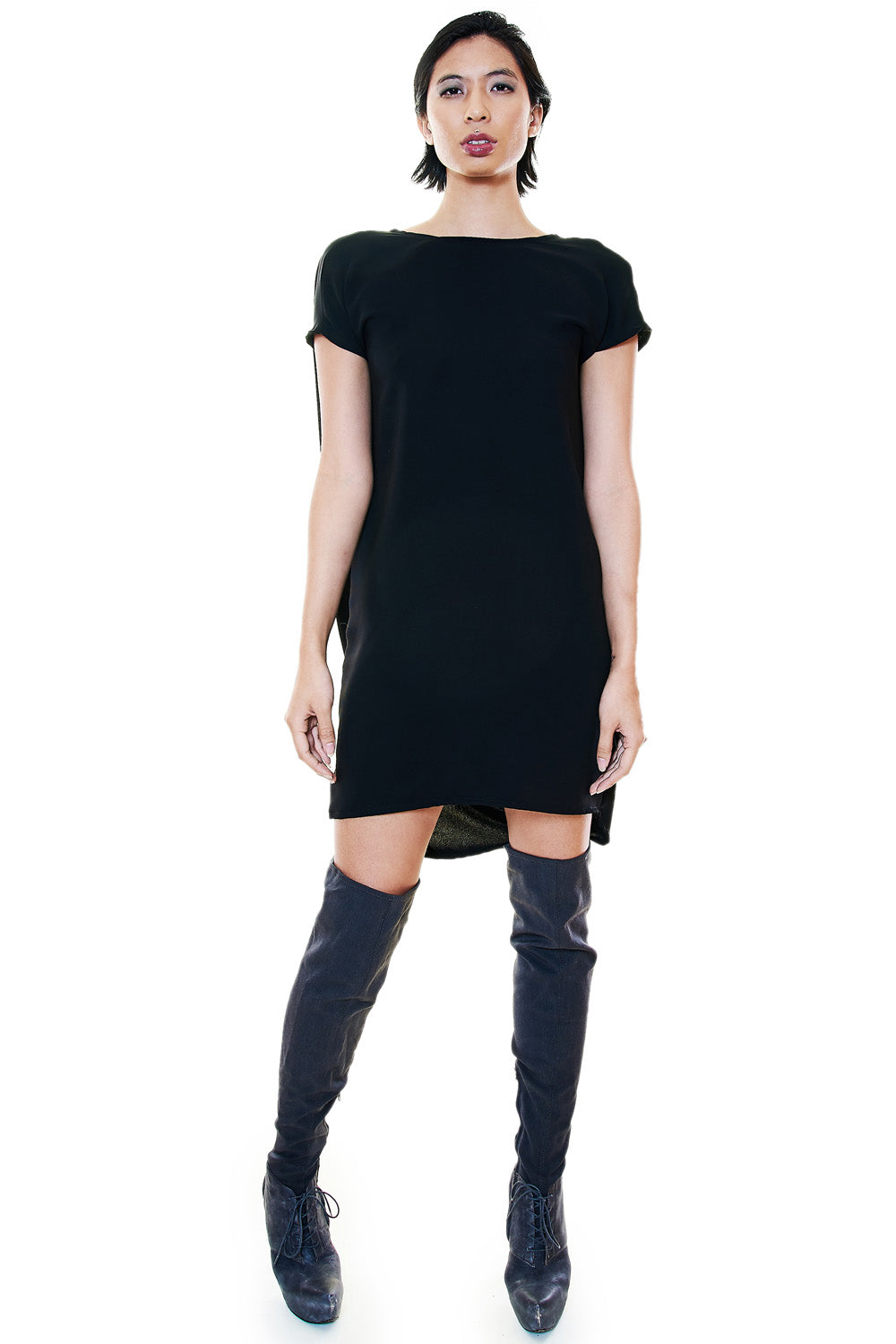 Black Tunic Dress - casacomostyle