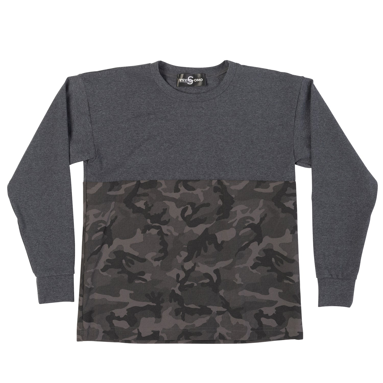 Camouflage Print Long Sleeve T-shirt - casacomostyle