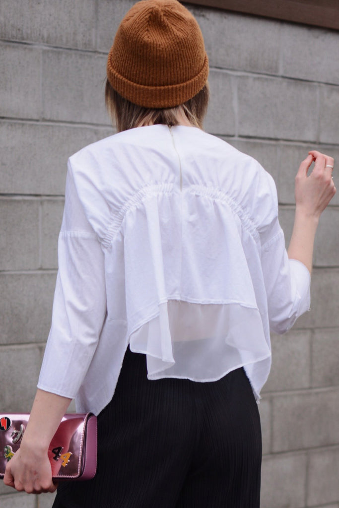 White Slit Blouse