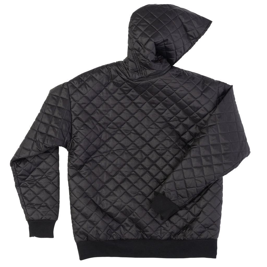 Quilted Black Hoodie - casacomostyle
