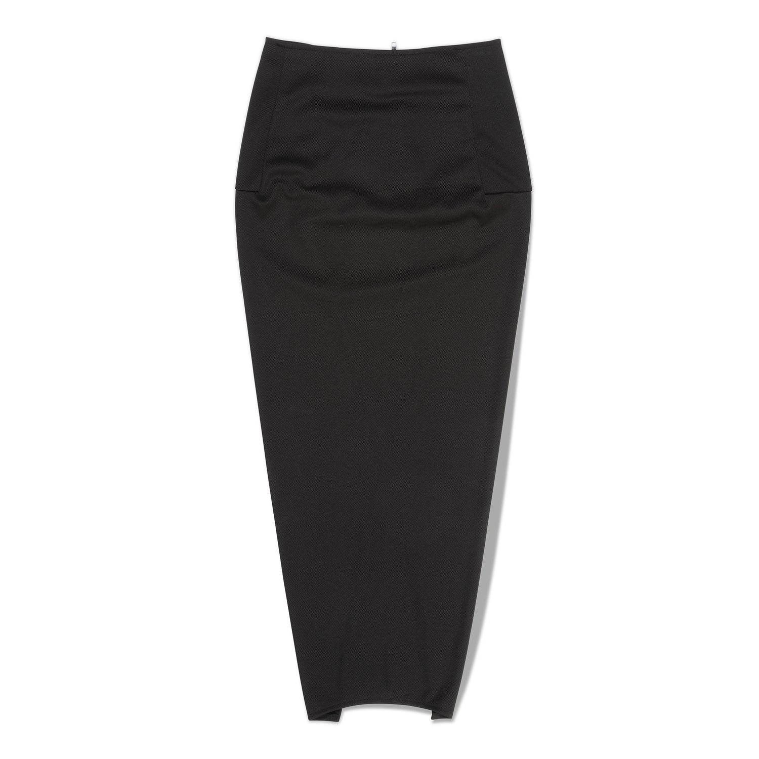 Black Pillar Slit Skirt
