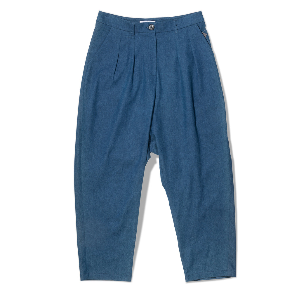 Blue Crepe Trouser