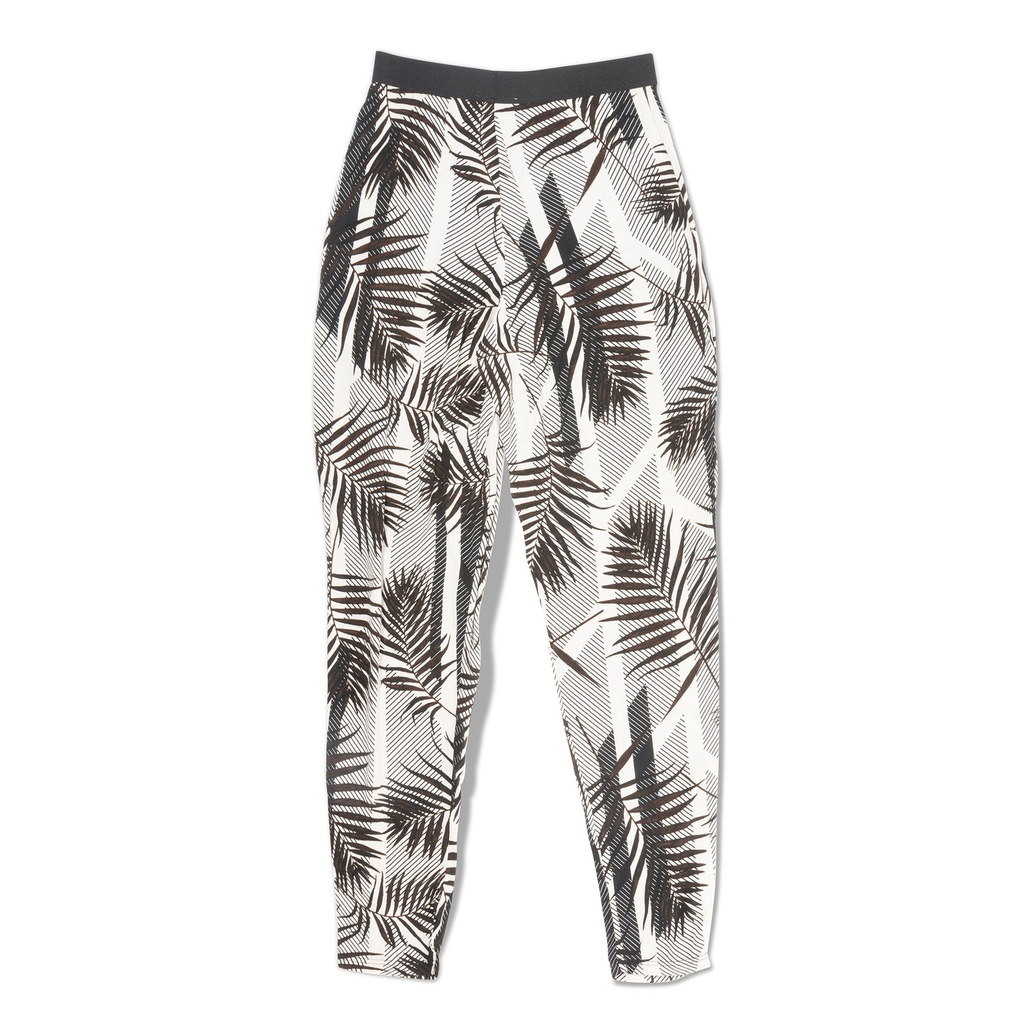 Pleated Tropical Print Pants