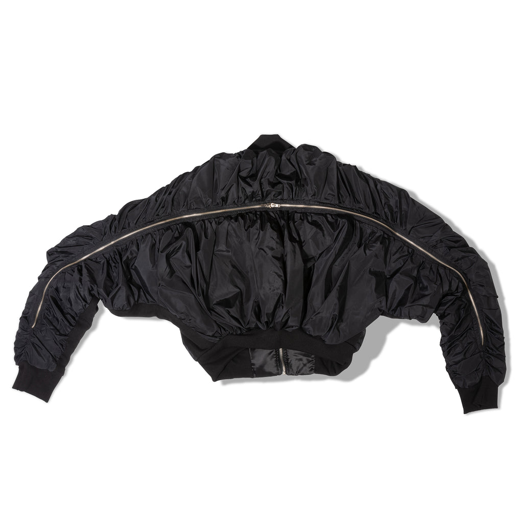 Casa Como Style-TWO WAY ZIPPER- DETAILED BOMBER JACKET