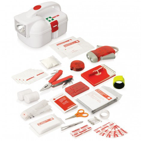 50 Piece Emergency Torch First Aid Kit