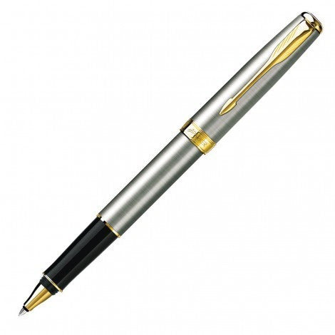 Parker New Sonnet Rollerball Pen - Brushed Stainless GT From