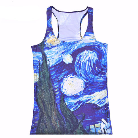 Van Gogh's Starry Night Painting Tank Top