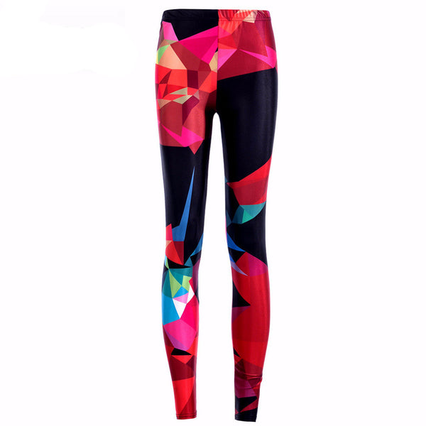 Geometric Diamond-shaped Colorful Legging