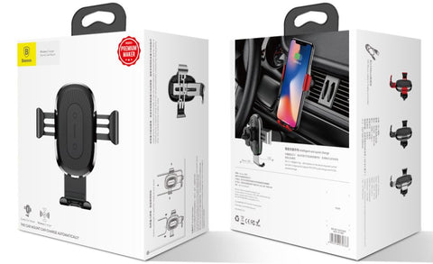 Baseus™ 2 in 1 Qi Wireless Gravity Car Mount & Charger