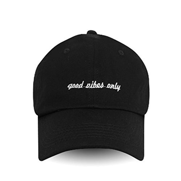 Good Vibes Only Embroidered Dad Hat Baseball Cap