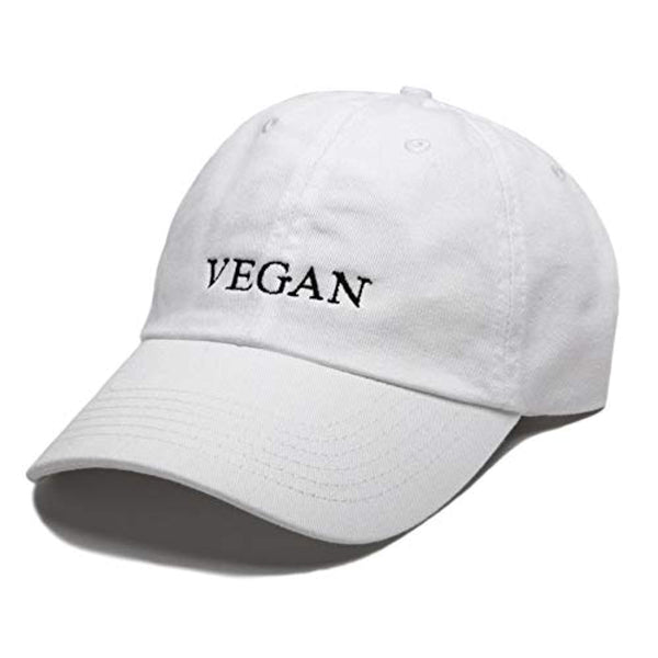Vegan Embroidered Dad Hat Baseball Cap