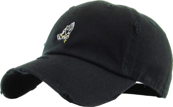 Praying Hands Embroidered Dad Hat Baseball Cap