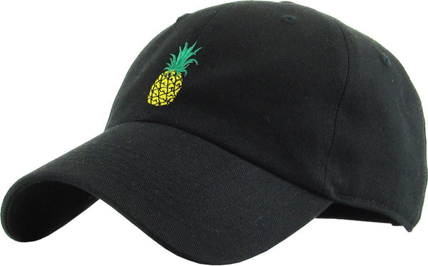 Pineapple Embroidered Dad Hat Baseball Cap