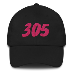 Embroidered Miami Vice 305 Area Code Dad Hat Cap Unisex