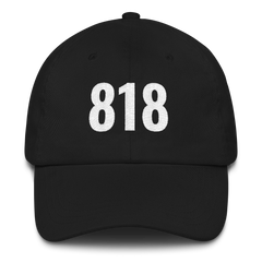 Embroidered Hollywood Classic 818 Area Code Dad Hat Cap Unisex
