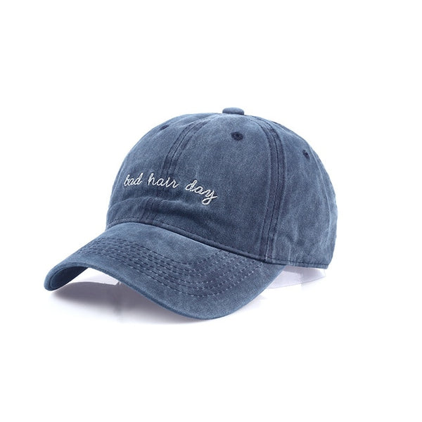 Embroidered Bad Hair Day Dad Hat Cap Unisex