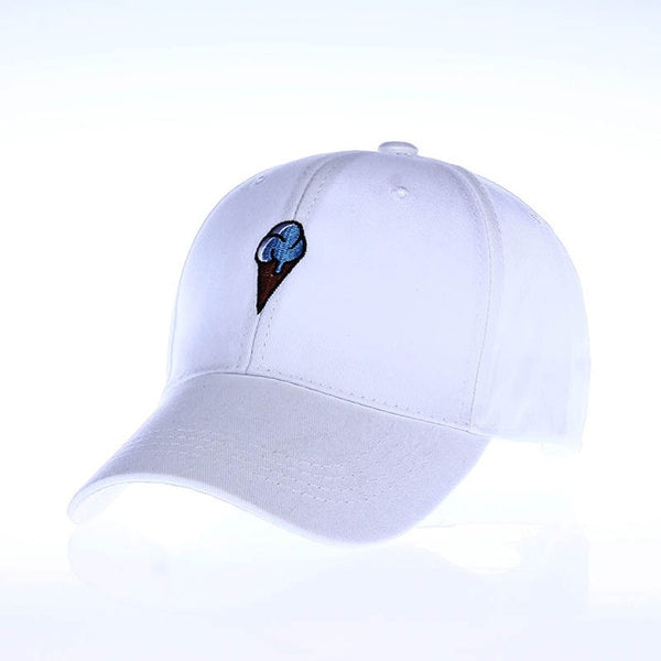 Embroidered Ice Cream Dad Hat Cap Unisex