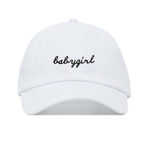 Baby Girl Cursive Super Cute Embroidered Dad Hat Cap Unisex
