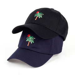 Embroidered Palm Tree Sun Dad Hat Cap Unisex
