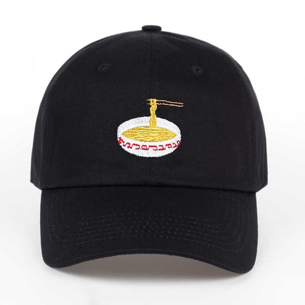 Chinese Noodles Please Embroidered Dad Hat Cap Unisex