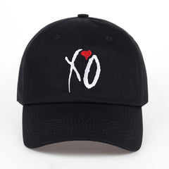 Embroidered XO Heart with Color Dad Hat Cap Unisex