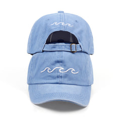 Embroidered Wave Fashion Dad Hat Cap Unisex