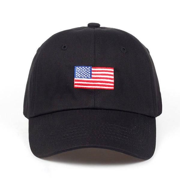 Embroidered USA American Flag Dad Hat Cap Unisex