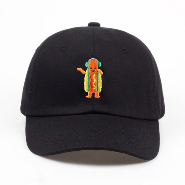 Embroidered Hot Dog Dad Hat Cap Unisex