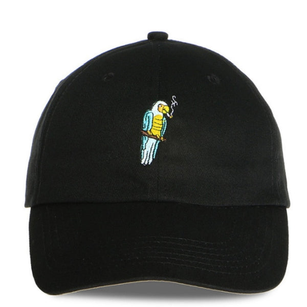 Polly Want a Cracker Parrot Embroidered Dad Hat Cap Unisex