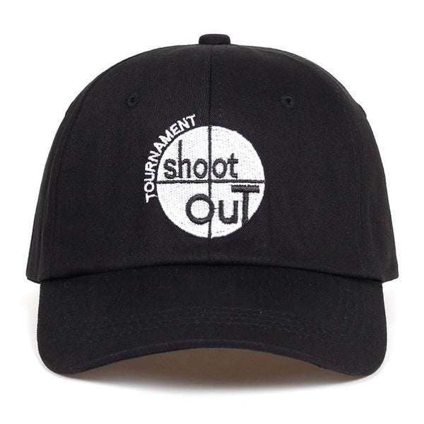 Embroidered Shoot Out Dad Hat Cap Unisex