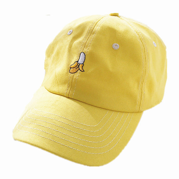Embroidered Banana Dad Hat Cap Unisex