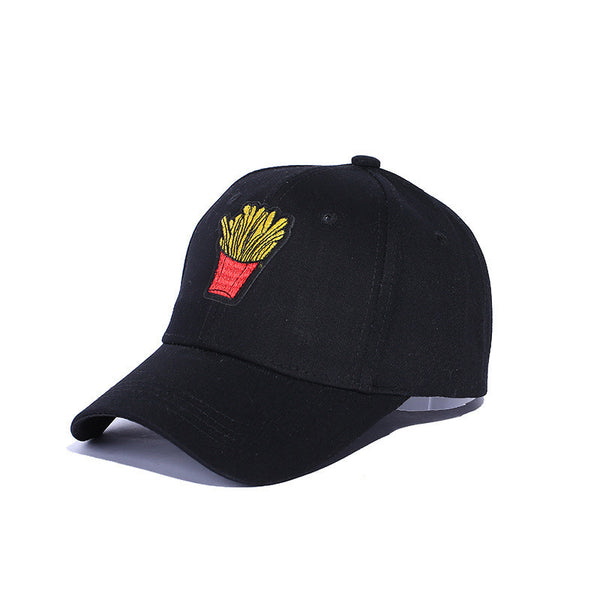 Funny French Fries Embroidered Dad Hat Cap Unisex