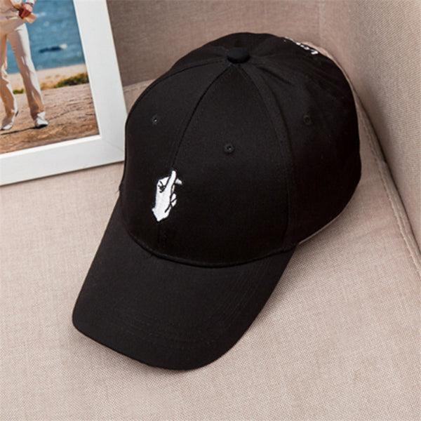 Embroidered Finger Snap Dad Hat