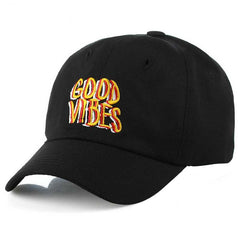 Good Vibes Text Embroidered Dad Hat Cap Unisex