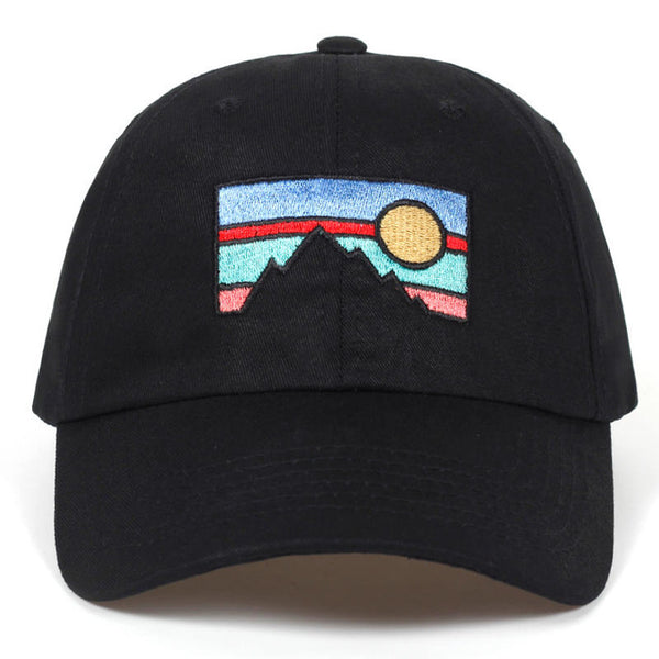 Embroidered Dusk Sunset Dad Hat Cap Unisex