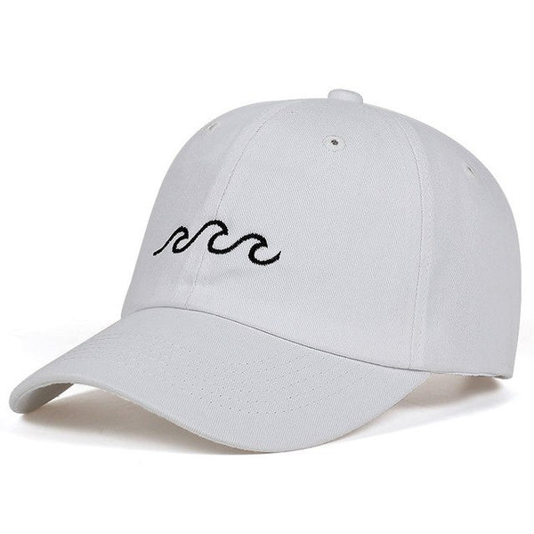 Embroidered Wave Life Dad Hat Cap Unisex