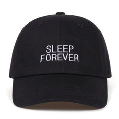 Embroidered Sleep Forever Dad Hat Cap Unisex
