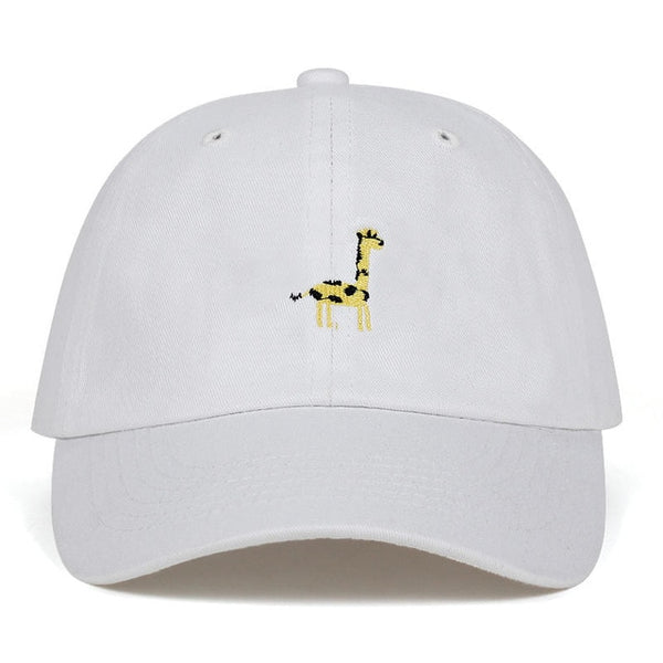 Embroidered Giraffe Dad Hat Cap Unisex