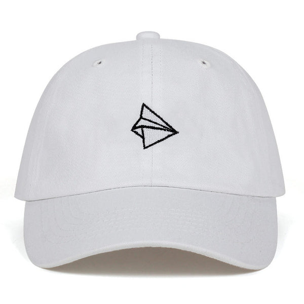 Embroidered Paper Plane Dad Hat Cap Unisex