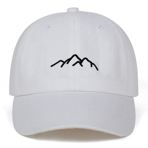 Embroidered Mountain Range Dad Hat Cap Unisex