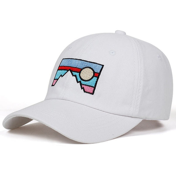 Embroidered Sunset Landscape Dad Hat Cap Unisex