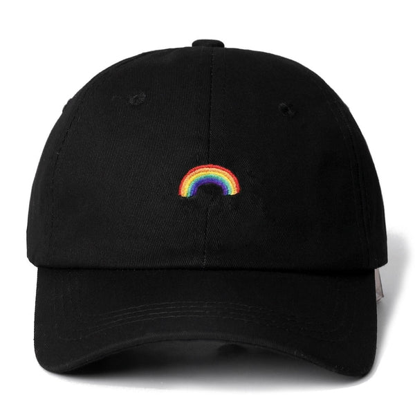 Embroidered Rainbow Dad Hat Cap Unisex