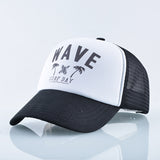 Summer Baseball Caps Women Men Fashion Letter Wave Snapback Hat Surf Day Lovers Beach Casual Visor Cap Adjustable Mesh Bones