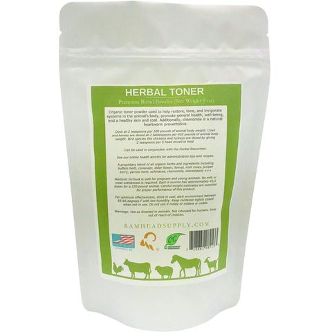 Herbal Toner | Toner | RSCO | animal health | ramhead supply | goats | sheep | cows | cattle | horses | horse | equine | dogs