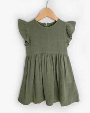 Bailey Olive Linen Dress