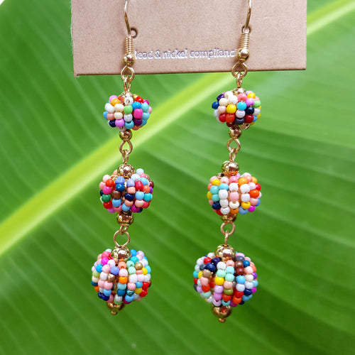 Sunshine and Rainbows Ball Earrings