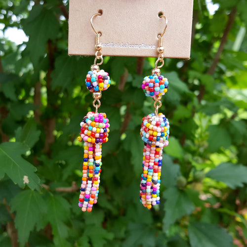 Sunshine and Rainbows Tassel Earrings