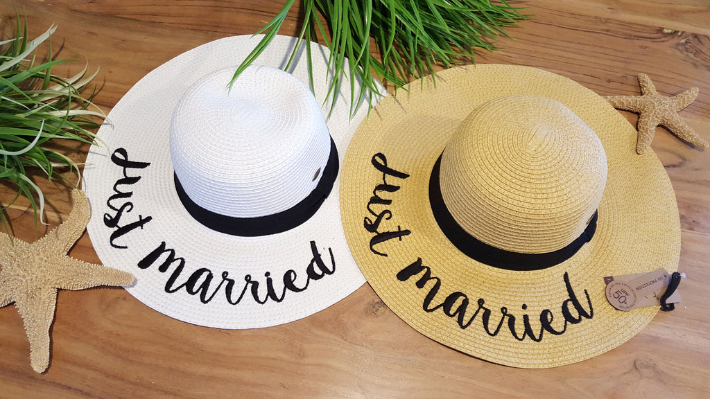 Secret Getaway Just Married Sun Hat