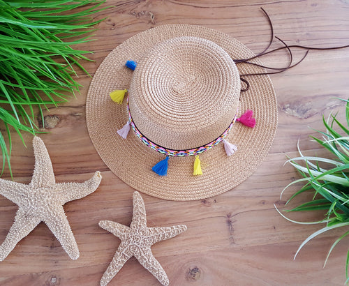 Tropical Vacay Tan Hat